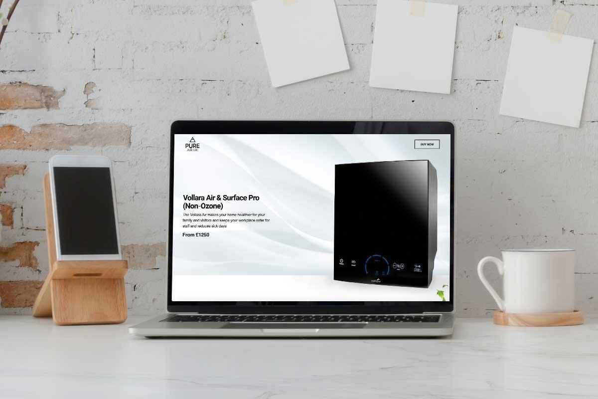 Pure Air UK Website Design